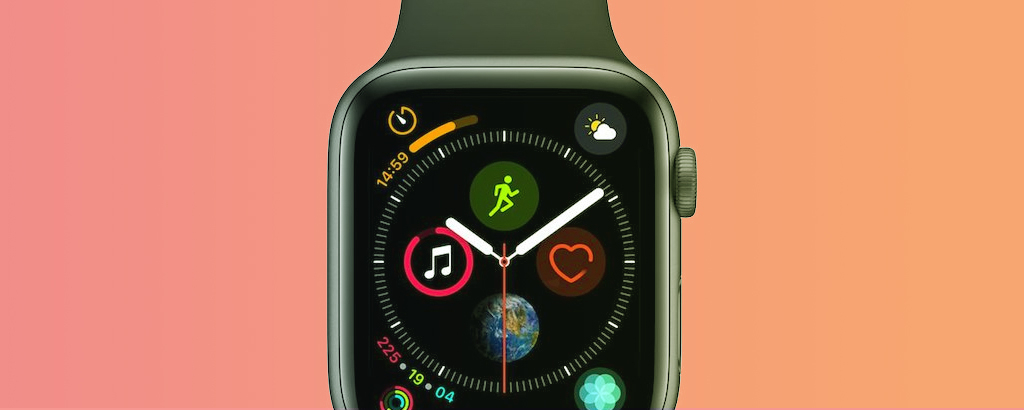 Foto di un Apple Watch nero
